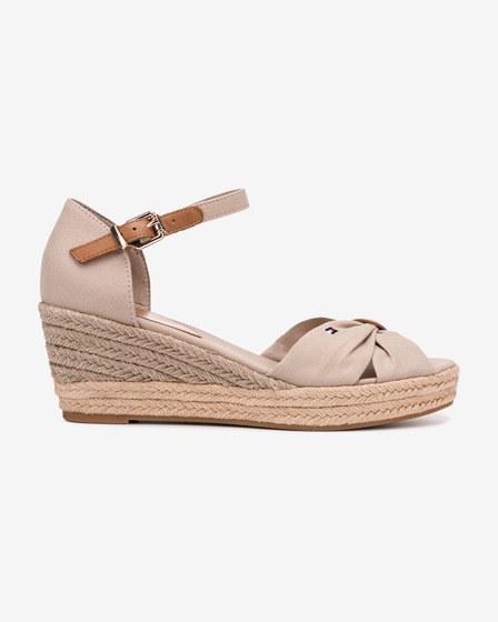 Tommy Hilfiger Basic Opened Toe Mid Wedge Buty wedge